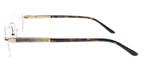 Paul Vosheront Eyeglasses Frame PV504 C02 Gold Plated Acetate Italy 52-17-135 36