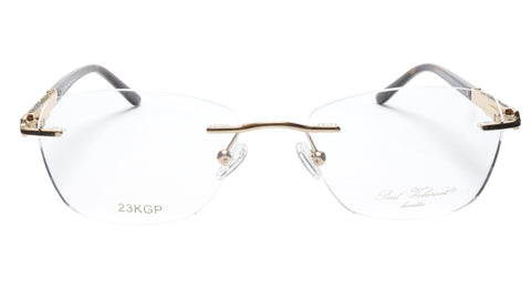 Image of Paul Vosheront Eyeglasses Frame PV504 C02 Gold Plated Acetate Italy 52-17-135 36