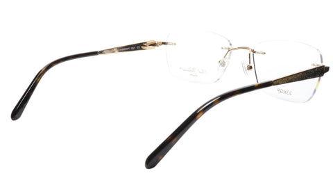Paul Vosheront Eyeglasses Frame PV503 C01 Gold Plated Acetate Italy 52-17-135 36