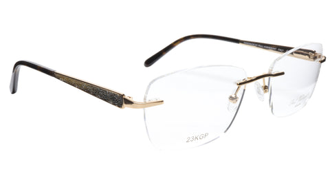 Image of Paul Vosheront Eyeglasses Frame PV503 C01 Gold Plated Acetate Italy 52-17-135 36