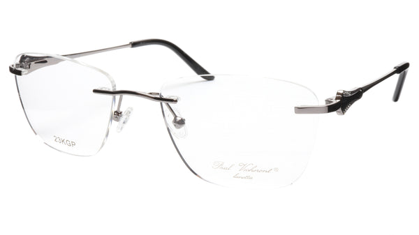 Paul Vosheront Eyeglasses Frame PV501 C02 Gold Plated Acetate Italy 52-18-135 37 - Frame Bay