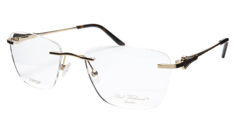 Paul Vosheront Eyeglasses Frame PV501 C01 Gold Plated Acetate Italy 52-18-135 37 - Frame Bay