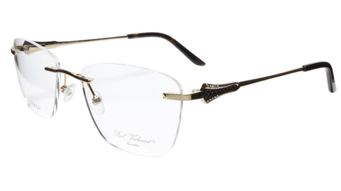 Paul Vosheront Eyeglasses Frame PV501 C01 Gold Plated Acetate Italy 52-18-135 37