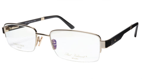 Paul Vosheront Eyeglasses Frame PV374 C1 Gold Plated Acetate Italy 56-20-145 33 - Frame Bay