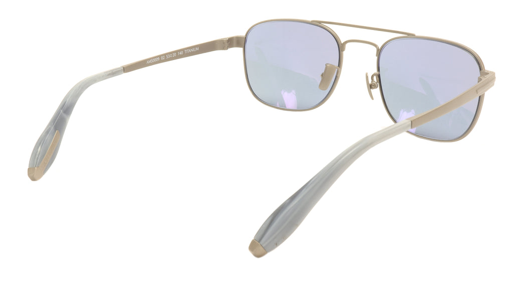 Aston Martin Sunglasses AM50009 02 Titanium Acetate Italy Made 53-20-140 42