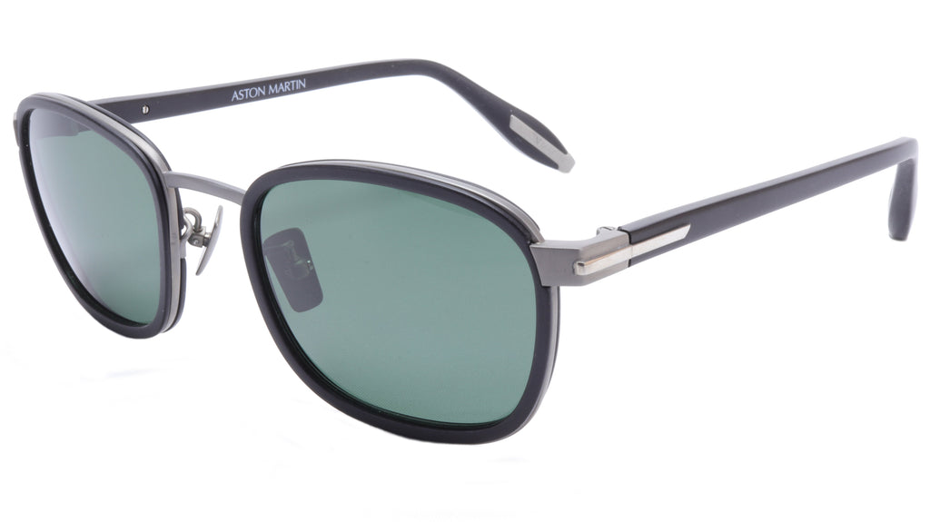 Aston Martin Sunglasses AM50015 01 Titanium Acetate Polarized Italy 52-20-145 38