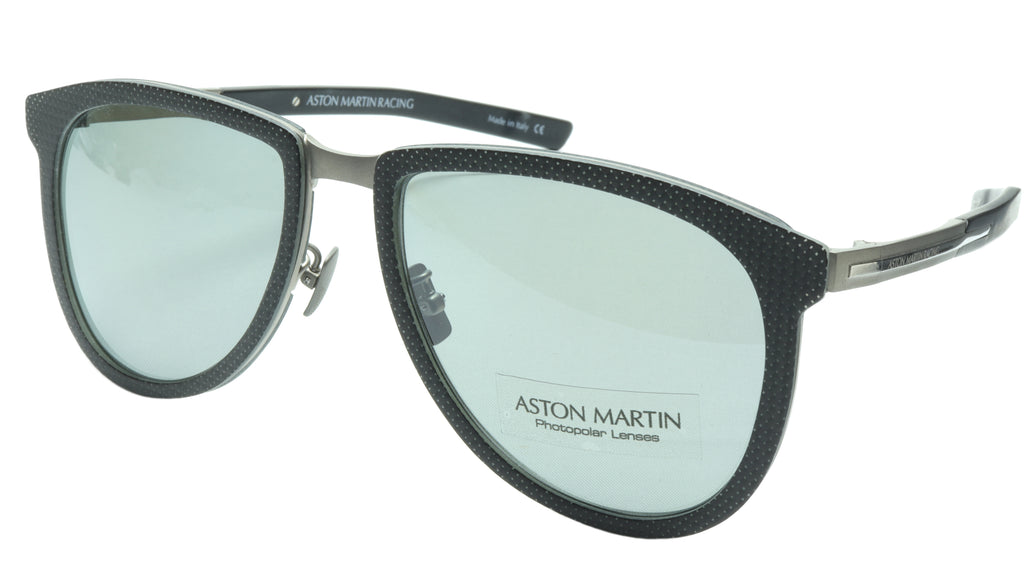 Aston Martin Racing Sunglasses AMR75002 01 Titanium Carbon Italy 57-18-145 46