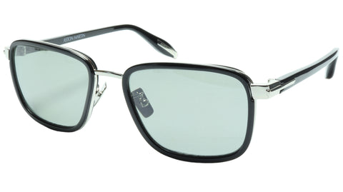 Aston Martin Sunglasses AM50017 05 Titanium Acetate Polarized Italy 54-18-145 39 - Frame Bay
