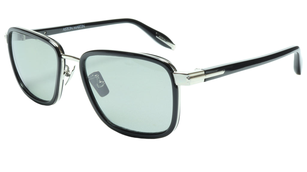 Aston Martin Sunglasses AM50017 05 Titanium Acetate Polarized Italy 54-18-145 39