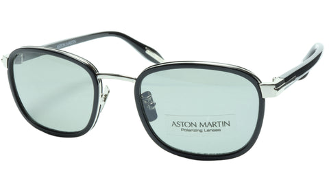 Aston Martin Sunglasses AM50015 05 Titanium Acetate Polarized Italy 52-20-145 39