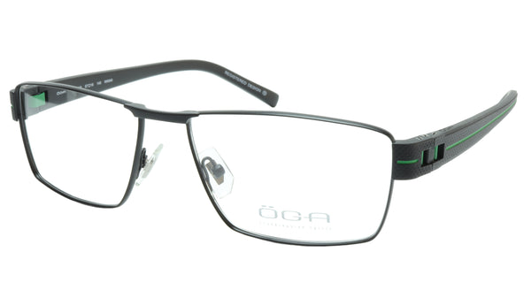 OGA Morel Eyeglasses Frame 7921O NN040 Metal Acetate Green France 57-16-140, 36 - Frame Bay