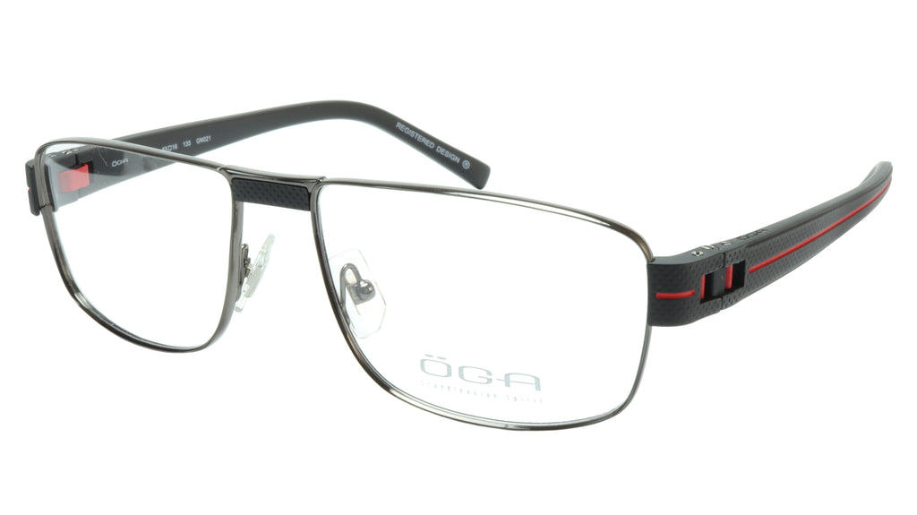 OGA Morel Eyeglasses Frame 7918O GN021 Metal Acetate Red France 55-16-135, 37
