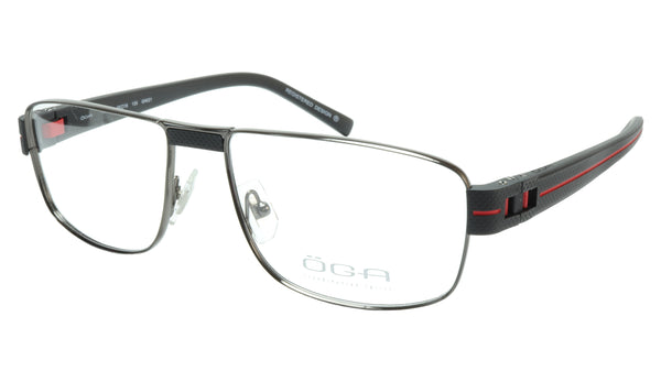 OGA Morel Eyeglasses Frame 7918O GN021 Metal Acetate Red France 55-16-135, 37 - Frame Bay