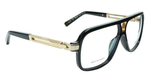 ZILLI Eyeglasses Frame Titanium Acetate Black Gold France Made ZI 60019 C01 055