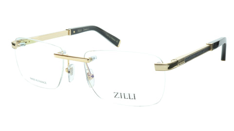 ZILLI Eyeglasses Frame Titanium Acetate Black Gold France Made ZI 60034 C04 - Frame Bay