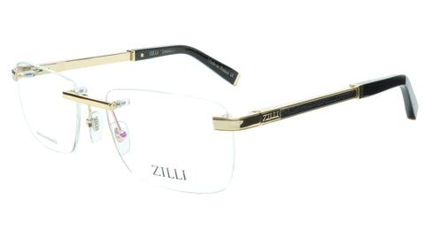 ZILLI Eyeglasses Frame Titanium Acetate Black Gold France Made ZI 60034 C04 091