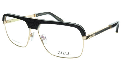 Image of ZILLI Eyeglasses Frame Titanium Acetate Black Gold France Made ZI 60033 C04 058