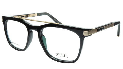 ZILLI Eyeglasses Frame Titanium Acetate Black Gold France Made ZI 60018 C01 - Frame Bay