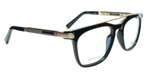 ZILLI Eyeglasses Frame Titanium Acetate Black Gold France Made ZI 60018 C01 232