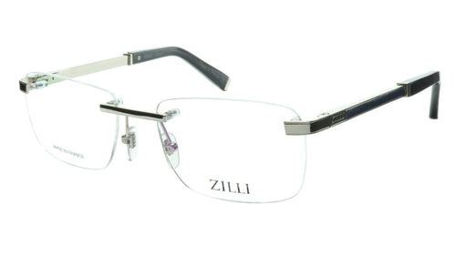 ZILLI Eyeglasses Frame Titanium Acetate Silver Blue France Made ZI 60034 C08 - Frame Bay