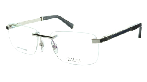 ZILLI Eyeglasses Frame Titanium Acetate Silver Blue France Made ZI 60034 C08