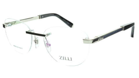ZILLI Eyeglasses Frame Titanium Acetate Silver Blue France Made ZI 60035 C08 - Frame Bay