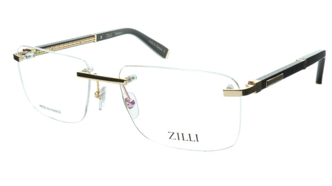 ZILLI Eyeglasses Frame Titanium Acetate Black Gold France Made ZI 60032 C04 - Frame Bay