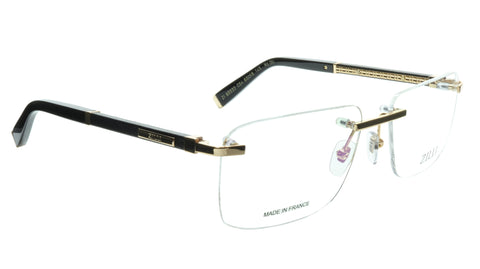 ZILLI Eyeglasses Frame Titanium Acetate Black Gold France Made ZI 60032 C04 084