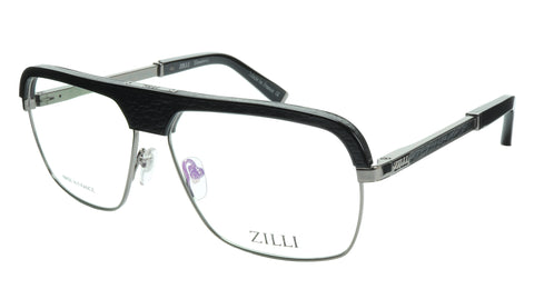 ZILLI Eyeglasses Frame Titanium Acetate Gunmetal France Made ZI 60033 C05 - Frame Bay