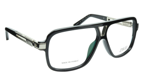 Image of ZILLI Eyeglasses Frame Titanium Acetate Silver France Made ZI 60019 C02 101