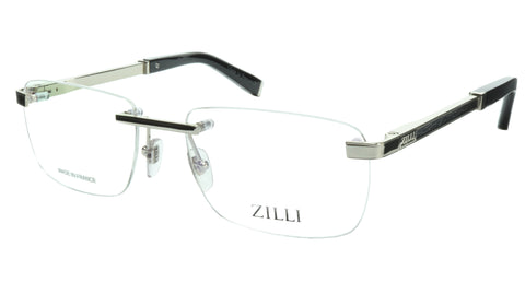 Image of ZILLI Eyeglasses Frame Titanium Acetate Silver France Made ZI 60034 C07 143