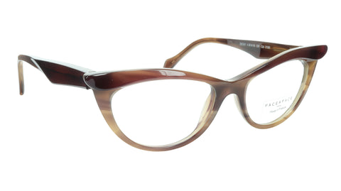 Face A Face Eyeglasses Frame Ebony 4 3159 Acetate Brown Cateye 50-16-135 31