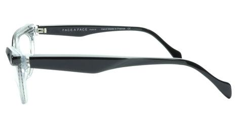 Face A Face Eyeglasses Frame Ebony 4 AT17 Acetate Black Crystal 50-16-135 31