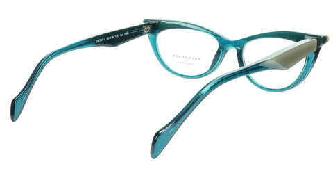 Image of Face A Face Eyeglasses Frame Ebony 4 3140 Acetate Opale Duck Blue 50-16-135 31