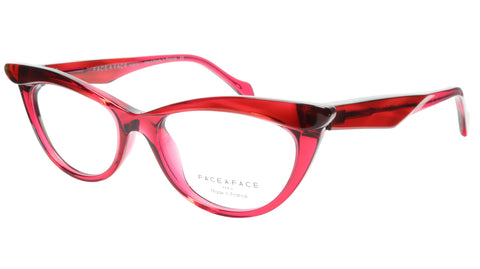 Face A Face Eyeglasses Frame Ebony 4 3031 Acetate Rouge Cateye 50-16-135 31 - Frame Bay