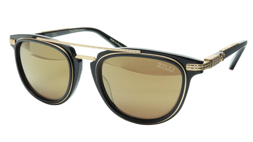 ZILLI Sunglasses Titanium Acetate Black Matte Gold Polarized France ZI 65019 C05 - Frame Bay