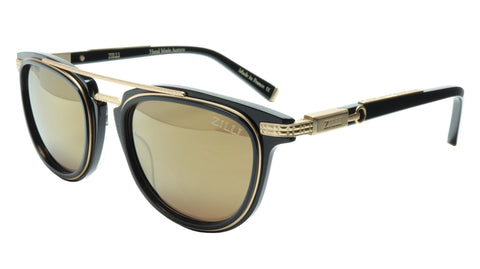 ZILLI Sunglasses Titanium Acetate Black Matte Gold Polarized France ZI 65019 C05