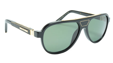 ZILLI Sunglasses Titanium Acetate Leather Gold Polarized France ZI 65008 C03