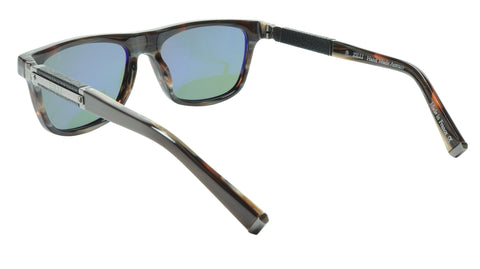Image of ZILLI Sunglasses Titanium Acetate Leather Gunmetal Polarized France ZI 65010 C03