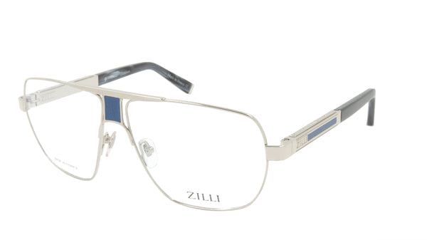 ZILLI Eyeglasses Frame Titanium Acetate Leather France Made ZI 60047 C03