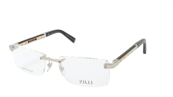 ZILLI Eyeglasses Frame Titanium Acetate Leather France Made ZI 60013 C02
