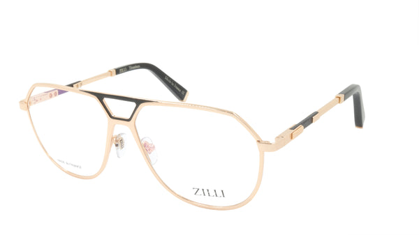 ZILLI Eyeglasses Frame Titanium Acetate Leather France Made ZI 60030 C07
