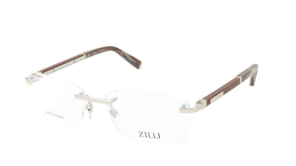 ZILLI Eyeglasses Frame Titanium Acetate Leather France Made ZI 60031 C06