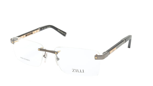 ZILLI Eyeglasses Frame Titanium Acetate Leather France Made ZI 60012 C03