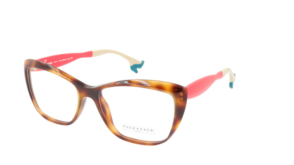 Face A Face Eyeglasses Frame BOCCA GINA 2 Col. 238 Acetate Tortoise Crimson Red