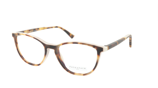 Face A Face Eyeglasses Frame TEORY 2 Col. 2120M Acetate Matte Java Chip Nude