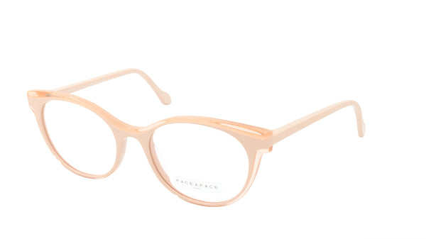 Face A Face Eyeglasses Frame MISHA 1 Col. 2196 Acetate Opaque Nude Crystal