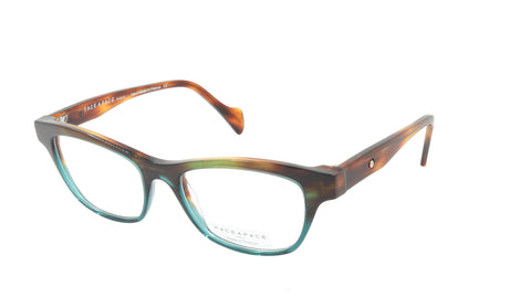Face A Face Eyeglasses Frame SHADE 3 Col. 2163 Acetate Chestnut Brown Duck Green