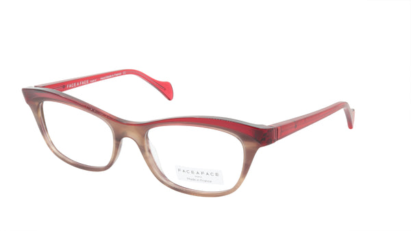 Face A Face Eyeglasses Frame GILDA 2 Col. 2036 Acetate Smoked Tortoise Raspberry
