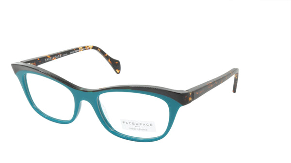 Face A Face Eyeglasses Frame GILDA 2 Col. 3036 Acetate Dark Opaque Turquoise